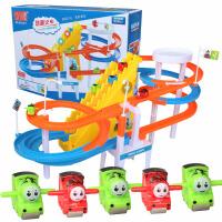 小贝猪滑梯轨道套装 小猪佩琪爬梯轨道套装小火车玩具儿童佩佩奇电动滑滑梯带灯光音乐