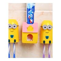 20190702063841087抖音牙刷架 牙膏架牙刷置物架壁挂全自动挤牙膏器抖音挤压器吸壁式卫生间套装