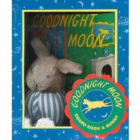 Goodnight Moon Board [Gift Book & Toy]晚安月亮船(礼品玩具套装,卡板书+毛绒兔)