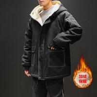 冬季新款加绒加厚棉服男士韩版宽松棉衣潮流学生棉袄外套男装