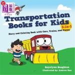 【中商海外直订】Transportation Books for Kids: 3-In-1 Story and Col