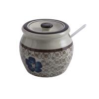 釉下彩盐罐日式厨房陶瓷调味罐套装家用调味瓶辣椒糖盐调料盒