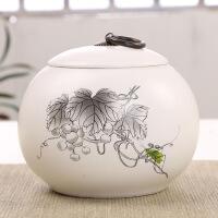茶叶罐陶瓷礼盒装白瓷密封储物罐陶瓷中号单罐装礼盒定制
