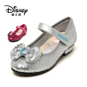 【达芙妮集团】迪士尼 秋款蝴蝶结亮片女童单鞋