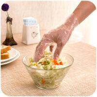 家用一次性塑料透明手套抽取式盒装厨房烘焙家务卫生加厚食品薄膜 图片色