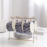 欧式咖啡杯下午茶具茶壶马克杯碟客厅家用简约创意小套装带勺