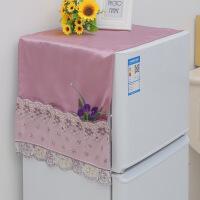 冰柜防晒罩对开门冰箱盖布单双开门冰箱罩布艺防水防晒冰柜洗衣机罩防尘盖巾