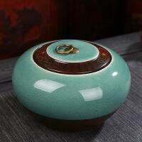 复古哥窑茶叶罐中大号冰裂陶瓷普洱密封罐家用一斤装通用礼盒定制