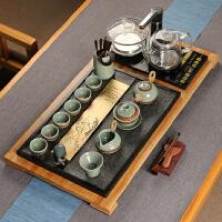 石茶盘整套功夫茶具套装简约家用泡茶全自动