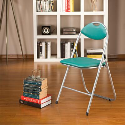 好事达 带孔扇形钢折椅6598绿 椅子 折叠椅 餐椅