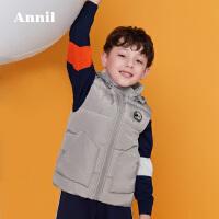 【3件3折:179.7】安奈儿童装男童冬季新款可拆卸带帽羽绒马甲