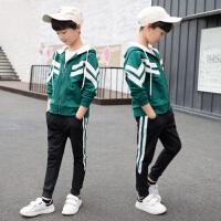 儿童装男童秋季套装2018新款中大童运动三件套男孩韩版潮衣9-15岁