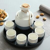 日式酒具套装半斤黄酒温酒器烫酒壶1两白酒杯陶瓷分酒器清酒酒具