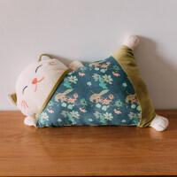 冬季暖手抱枕可爱捂手毛绒玩具 日式招财猫毛绒玩具暖手抱枕可爱布娃娃公仔懒人睡觉沙发生日礼物