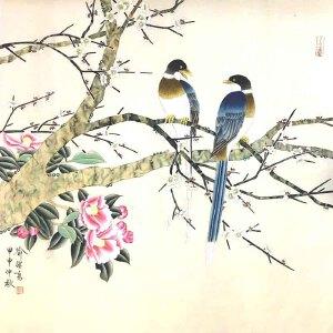 当代工笔花鸟画大家,国家一级美术师,对我国文化艺术发展有突出贡献的喻继高喜鹊