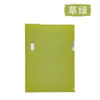 加厚单片夹彩色资料夹l型文件夹A4二页文件套时尚单页文件袋