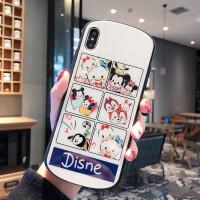 苹果8plus手机壳iPhonexsmax个性7p迪士尼XR创意玻璃壳6s潮
