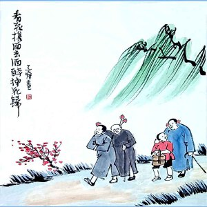 中国现代画家,散文家美术教育家音乐教育家,漫画家作家和书法家没翻译家丰子恺(看花携酒去酒醉)