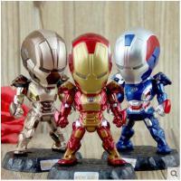 复仇者联盟2 Q版钢铁侠3模型手办玩具 可动 LED发光公仔摆件