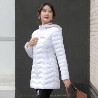 2019轻薄棉衣女中长款韩版修身大码妈妈装棉袄冬季外套潮 M 95斤以下