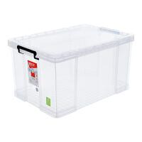 塑料收纳箱整理箱中号透明抗压加厚玩具储物箱31L 6070 大力士系列