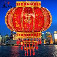 大红灯笼旋转走马灯中式阳台灯笼中秋节吊灯LED结婚乔迁水晶灯笼