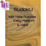 【中商海外直订】Sudoku: 180 Total Puzzles Easy, Medium & Hard