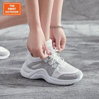 【下单即享满299减200元】TFO 新款女鞋 拼接时尚 女鞋休闲鞋运动鞋增高韩版厚底老爹鞋女