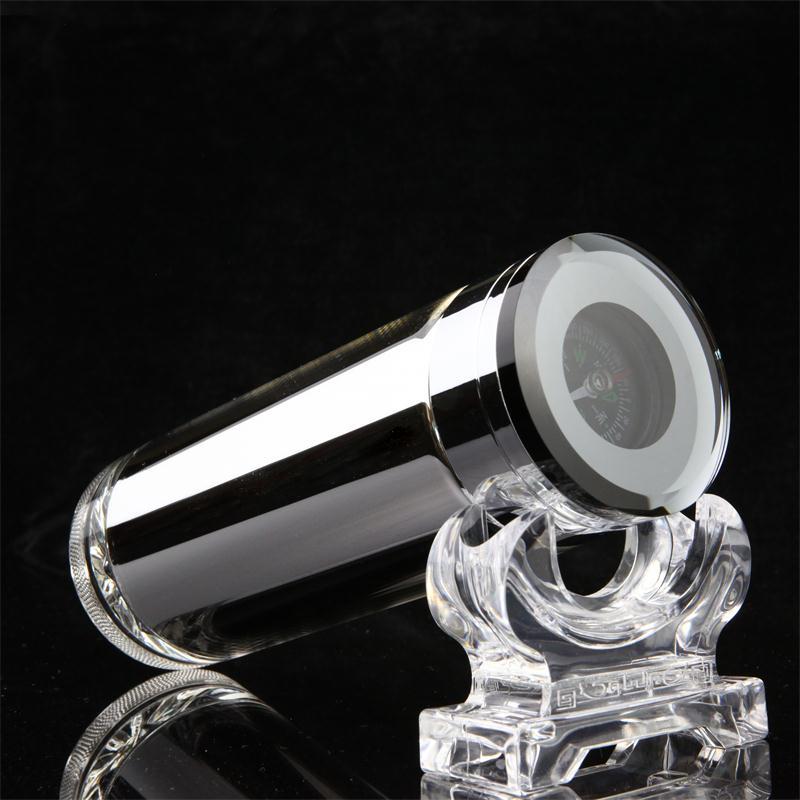 玻璃保温杯男双层隔热水杯真空高档泡茶杯女镀银玻璃内胆定制团队定制公司会议纪念水杯 指南针