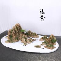 山水景观假山盆景吸水石上水石奇石风水摆件室内家居装饰礼品1