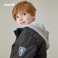 【3件3折折后价:209.7】安奈儿童装迪士尼男童外套星球大战冬季新款棉衣带帽保暖棉衣