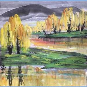 当代画家,艺术教育家,原中央美术学院第一任院长林凤眠(金黄)
