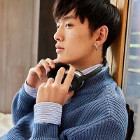 男装秋冬新品毛衫时尚青年中低领韩版针织衫毛衣