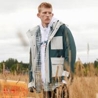 2.5折价:324;Lilbetter羽绒服男韩版男士冬季外套短款潮流冬装衣服男士羽绒服