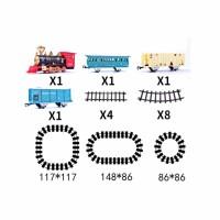 遥控蒸汽火车玩具男孩电动火车轨道玩具儿童托马斯小火车套装模型 B款不带遥控4.2米电池版 1车头 3车厢