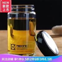单成玻璃杯女带盖茶杯单层便携男大容量水杯透明加厚车载耐热防爆