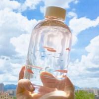 韩版水杯玻璃杯大容量水瓶便携杯子女学生随手杯创意可爱带盖茶杯