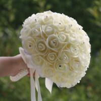 结婚庆用品创意伴娘团影楼摄影新娘手捧花仿真玫瑰韩式婚礼手捧花