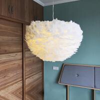 羽毛灯卧室北欧灯具简约现代创意客厅儿童灯温馨浪漫个性羽毛吊灯