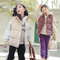 儿童冬季马甲2018新款女孩韩版加厚夹棉背心保暖坎肩