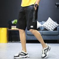 新款男士休闲运动5分裤短裤宽松舒适青年学生男装7分裤薄款沙滩裤K518