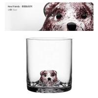 【品质好货】水晶玻璃杯家用水杯茶杯男女创意动物酒杯萌宠洋酒杯红酒威士忌杯