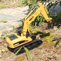 儿童玩具汽车挖土机遥控挖掘机玩具 充电合金挖机无线工程车钩机