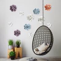 新款花卉陶瓷花壁挂墙饰壁饰创意客厅卧室墙壁背景墙面立体装饰品 中