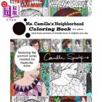【中商海外直订】Ms. Camilla's Neighborhood Coloring Book: Smiling a