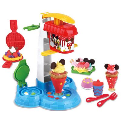 disney 迪士尼 冰淇淋果汁橡皮泥套装 轻粘土彩泥太空儿童玩具 ds