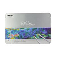 马可7100 绘画彩色铅笔48色 48色油性彩铅铁盒装 涂色填色彩笔