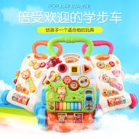 多功能防侧翻儿童音乐婴儿玩具学步车手推车6-7-18个月宝宝助步车