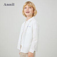【活动价:99.5】安奈儿童装男童衬衫长袖2020春季新款韩版中大童学生休闲纯棉衬衣