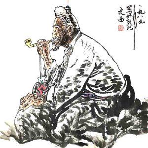 中国人物画泰斗,黄土派创始人第三套人民币*像作者刘文西(陕北老人)